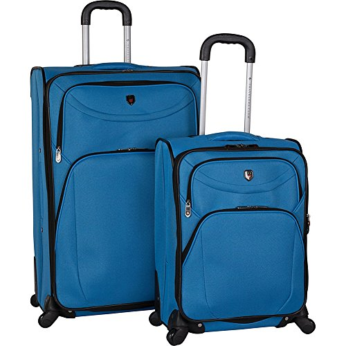 Travelers Club Luggage D-Luxe 2 Piece Expandable Spinner Luggage Set (Eva Expandable Luggage Set)