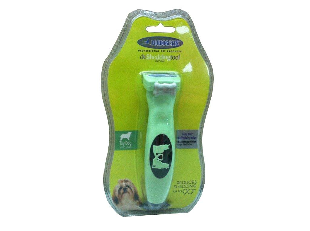 NEW FURDOGCATS Long Hair deShedding Tool 1.25'' Brush extra Small Dog short hair (Long hair)