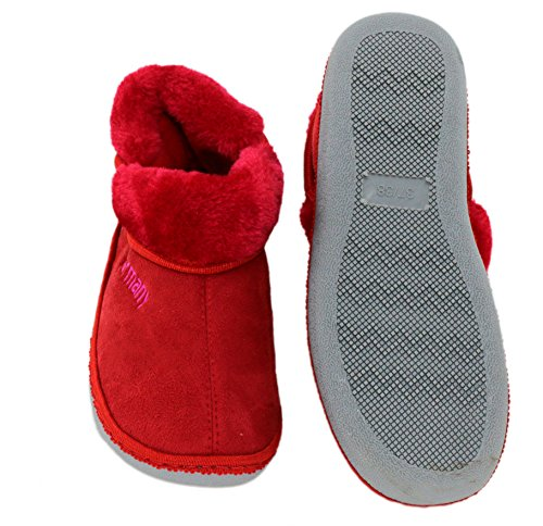 brandsseller Zapatillas de estar Por casa de Material Sintético Para Mujer, Color Gris, Talla 37