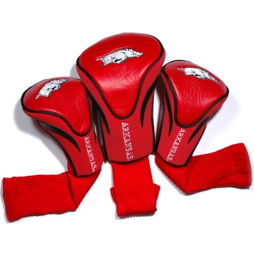 Collegiate Golf Gift - NCAA Arkansas Razorbacks 3 Pack Contour Head Covers