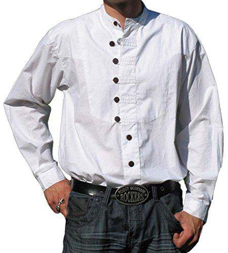 Trachtenhemd Ache weiß XXL - Baumwoll-Hemd