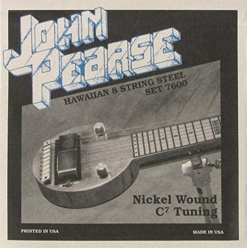 John Pearse 7600 Hawaiian Steel C7 - Cuerdas para guitarra (8 ...