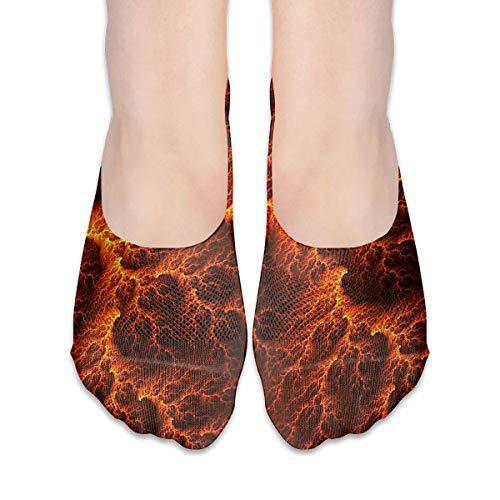 No Show Socks Lava Flow Pattern Low Cut Liner Socks Flat Boat Liner For Women