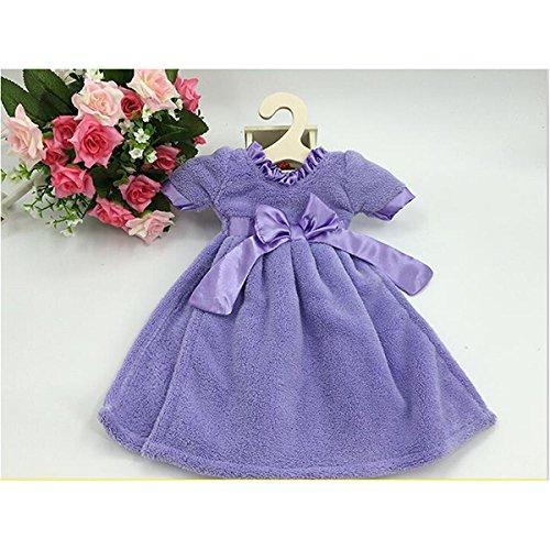 Tinksky vestido decorado con forma bowknot toalla de baño para cuarto de baño cocina baño (color morado): Amazon.es: Bricolaje y herramientas