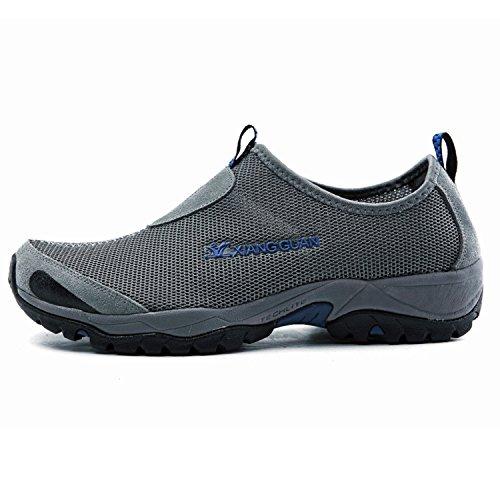 XIANG GUAN Herren Sportschuhe Fitnessschuhe Leicht Jogging Laufschuhe Schuhe 3409 Grau