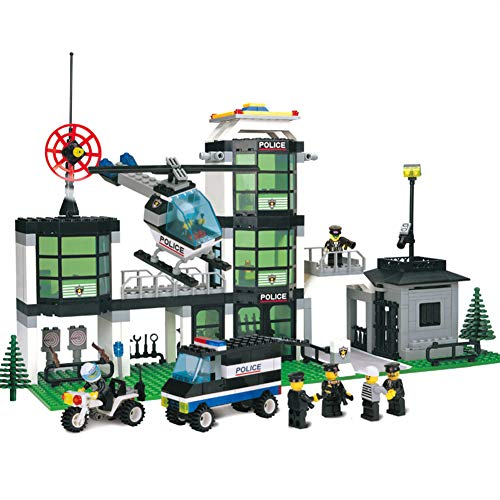 (Yyz Police Series Police Department General Assembly to Insert Blocks Building Blocks Puzzle Children's Toys Birthday Gifts)