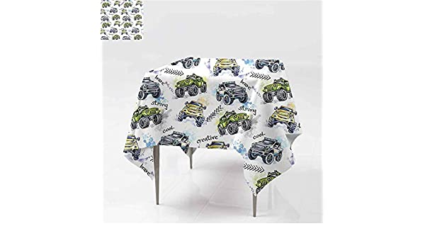 Amazon.com: Jbgzzm Cars Polyester Tablecloth Hand Drawn ...