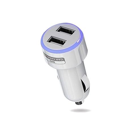 Jinxuny Cargador USB Doble para automóvil Adaptador LED de ...