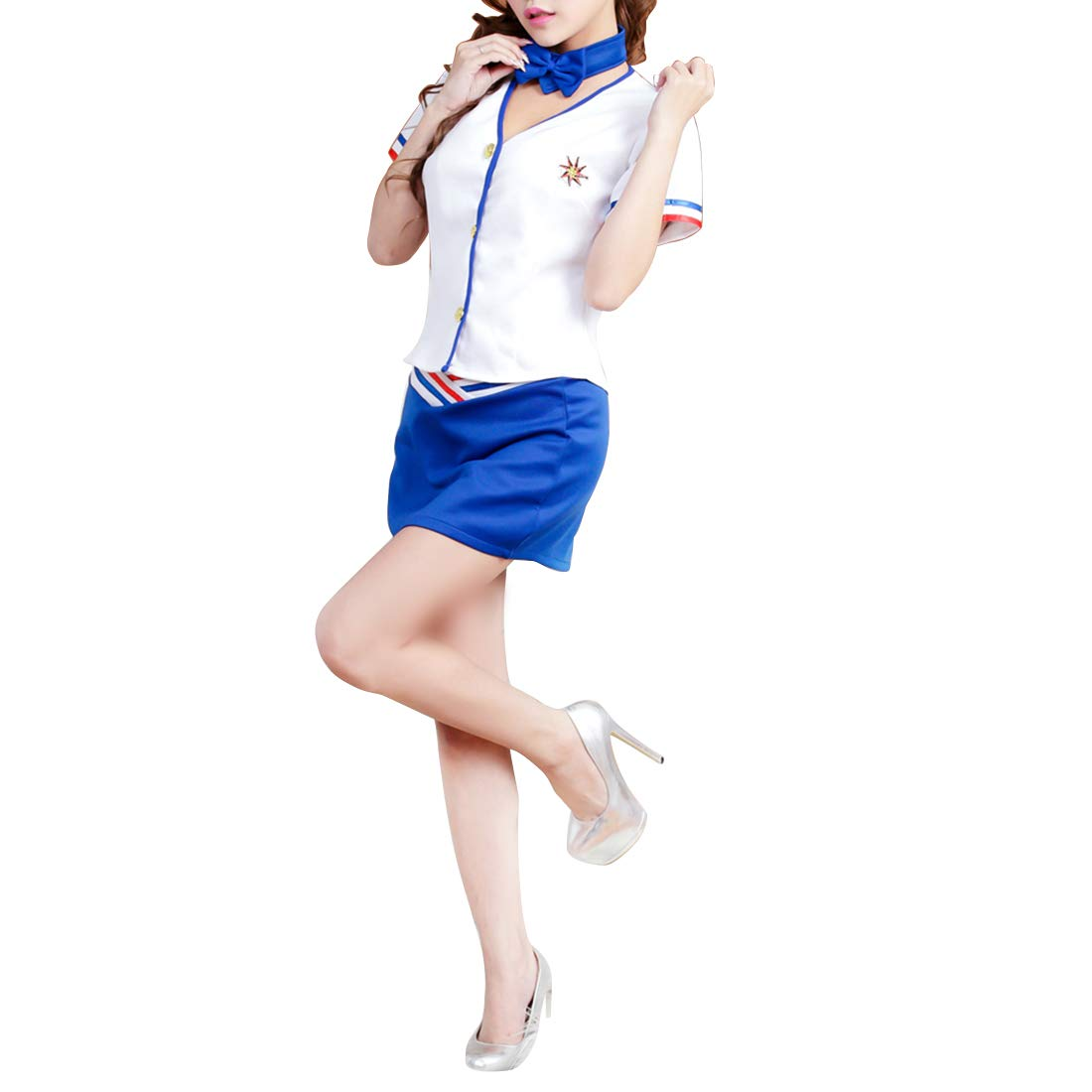 KirinArt Lencería Sexy Temperamento, Azafata Suit Sailor Suit Azafata OL Uniforme (Color : azul) a38327