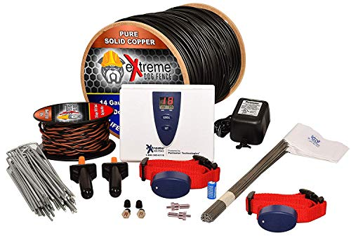 Underground Electric Dog Fence Ultimate - Extreme Pro Dog Fence System for Easy Setup and Maximum Longevity and Continued Reliable Pet Safety - 2 Dog | 1000 Feet Pro Grade Dog Fence Wire (Stubborn Dog Fence Kit)