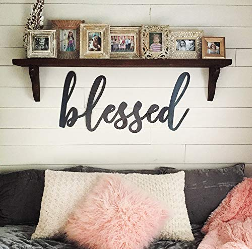 Metal Blessed Sign, Steel Blessed Sign