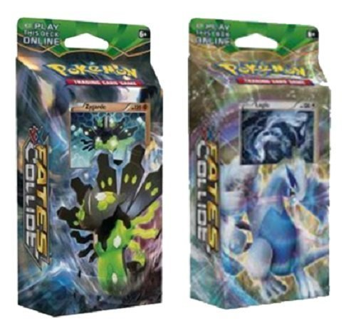 Pokemon XY Fates Collide - BOTH Theme Decks Zygarde & Lugia, 120 cards