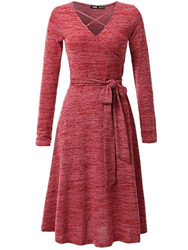 khaki and red dress - 5