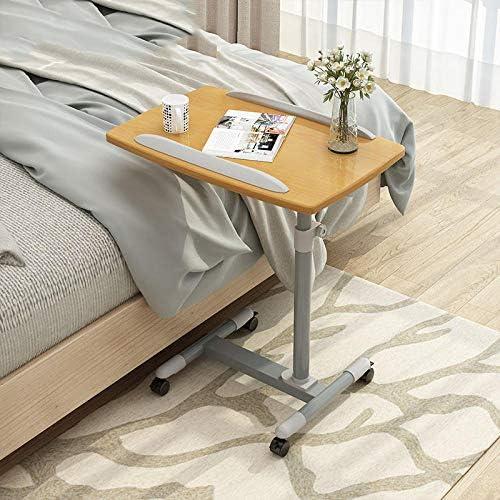 鉄 折りたたみ オフィステーブル 黄色のPVCパネル 付き,ダイニングテーブル 折りたたみ無段階座位立位両用オフィスワークテーブル 高さ調節可能、ロック可能なキャスター、折りたたみ式
