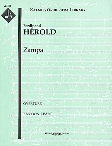 Zampa (Overture): Bassoon 1 and 2 parts (Qty 2 each) [A1588]