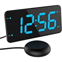 Extra Loud Alarm Clock with Bed Shaker, Vibrating Alarm Clock for Heavy Sleepers, Deaf and Hard of Hearing, Dual Alarm…