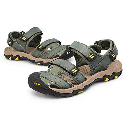Uomo Sandali Khaki Estivi da Outdoor Beach Shoes Baotou Casual Sandali ZHONGST qtgdHvxg