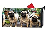 KSLIDS Fashion Mailbox Covers Pug Animal Domestic Animal Mailbox Makover Cover Garden,Outdoor,Yard Magnetic