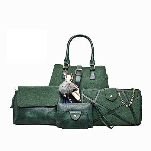 Aoligei Pack sous cinq morceaux de fruits Litchi marée automne mode centaines lady sac à main sac E