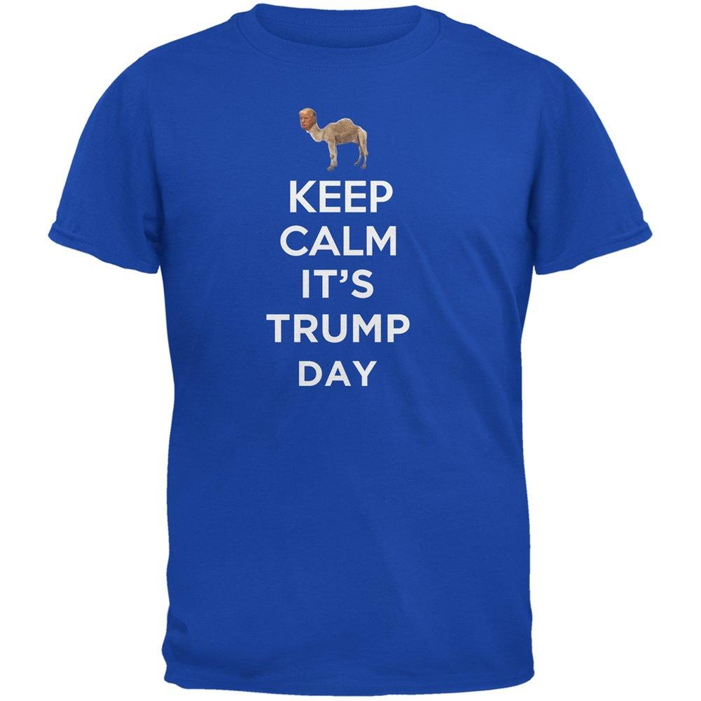 Election 2020 Keep Calm It S Trump Day Shirt Royal Adult T Shirt
