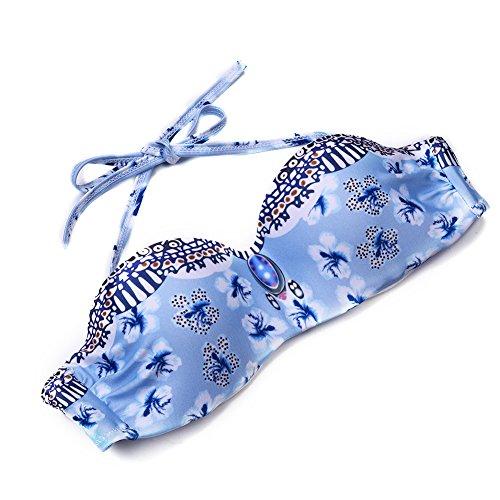 Hjuns - Top de bikini - para mujer Azul