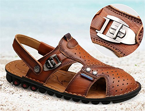 amp;XY slip men's resistant W beach leather slippers sandals 38 use surf Sandals dual wpqZWH4