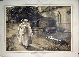 Impresión 1884 De La Iglesia Del Bautizo Del Entierro Del Dolor De La Alegría De Las Coronas [Cocina Y Hogar]