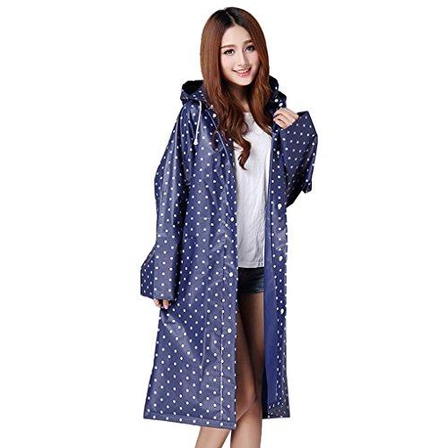 Womens Portable Fashion Hooded Raincoat