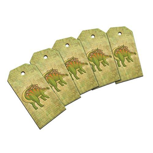 Stable Stegosaurus Wooden Wood Gift Tag Set ()
