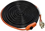 hose heat tape - Frost King HC30A 30 x 120 x 7' Automatic Electric Heat Cable Kits, Black