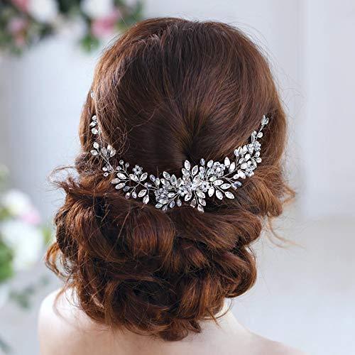 Luvehandicraft Bridal Headbands Wedding Hair Accessories for Brides Rhinestone Hair Piece