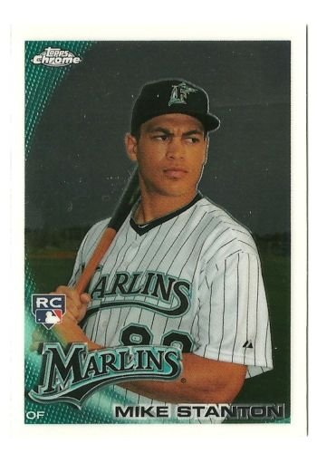 Florida Marlins Display Case (2010 Topps Chrome #190 Mike Stanton RC - Florida Marlins - Rookie Baseball Card in Protective Screw Down Display Case)