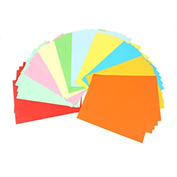 Oubei Multicolor Large Origami Copy Assorted Paper 10 Colors 50