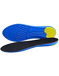 Comfortable PU Sport Thickened Warm Seashells Insoles with Shock Absorbing, Eliminate Sweaty Feet and Sore Feet Relief