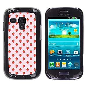 YOYOYO ( NO PARA S3 i9300 ) Smartphone Protección Defender Duro Negro Funda Imagen Diseño Carcasa Tapa Case Skin Cover Para Samsung Galaxy S3 MINI I8190 I8190N - fresa patrón de papel tapiz de verano