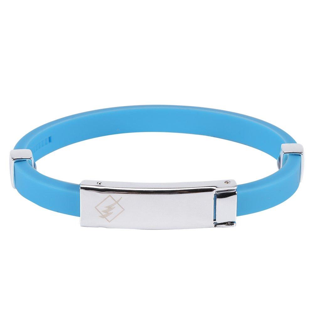 Cinturino impermeabile in silicone impermeabile con ioni negativi cinturino da polso per lelettricit/¨/¤ statica del corpo umano