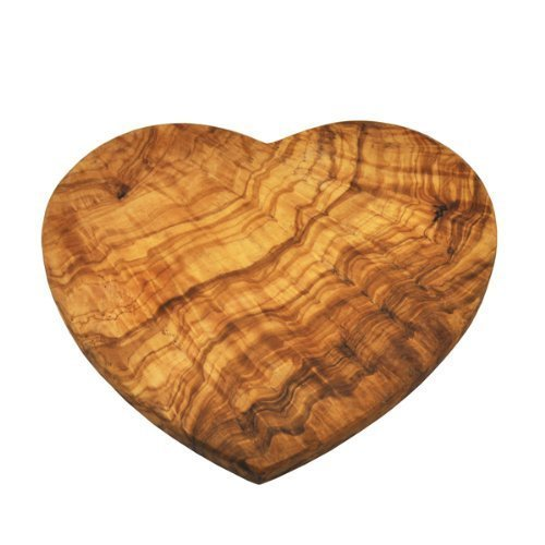 Heart Shaped Bar - Naturally Med Olive Wood Heart Shaped Board