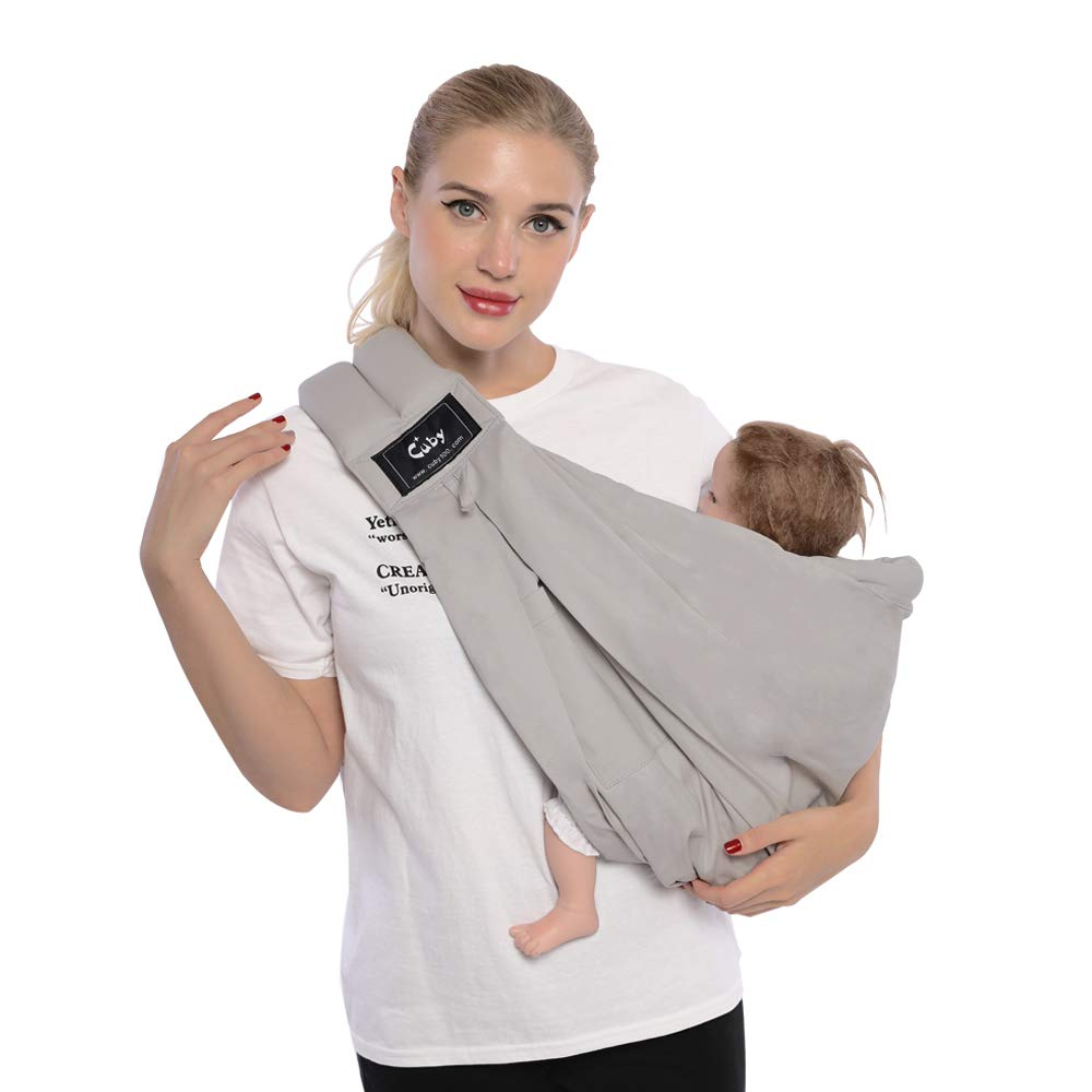 f6601745b37 Cuby Baby Slings Carrier for Newborns and Breastfeeding (Grey)   Amazon.co.uk  Baby