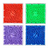 Aryellys Packs 2.5 in. Plastic Maze Games Pack of 12 Party Favor for Kids