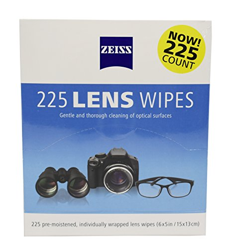 Zeiss Pre-Moistened Lens Cleaning Wipes, 225 Pack, Gentle and Thorough Cleaning of Optical - Carl Lenses Glasses Zeiss
