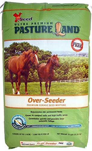 X-Seed Pasture Land Over-Seeder Mixture with Micro-Boost Seed, 25-Pound by X-Seed