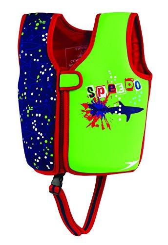 Speedo Kids' UPF 50+ Begin to Swim Printed Neoprene Swim Vest, Blue, Medium