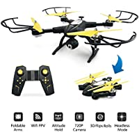 JJRC H39WH FPV Foldable Drone with Stable Altitude Hold RC Quadcopter with 720P Live Feed Video Camera, APP Control, Good for Beginner