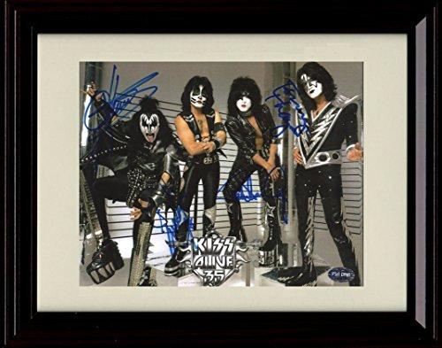 Kiss Framed - Framed KISS Autograph Replica Print