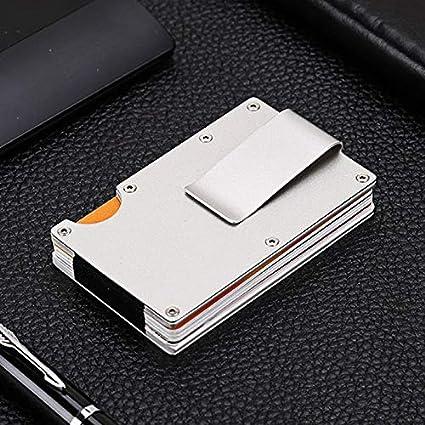 Amazon.com: Mini cartera de metal delgado para tarjetas de ...