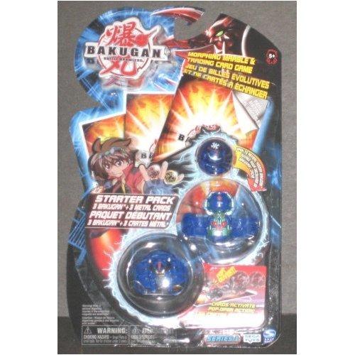 Bakugan Battle Brawlers Starter Pack BLUE Translucent Mystery Marble, Reaper, Laserman