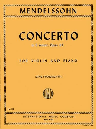 International Music Co Mendelssohn-Concerto in E minor, Op. 64