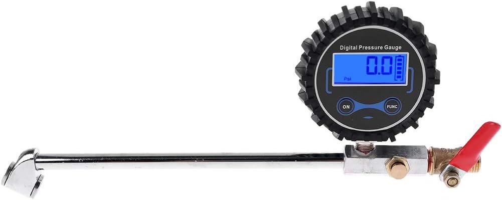 Inflador de neumáticos de doble cabezal con manómetro 0-200 PSI para camión, coche, bicicleta, motor: Amazon.es: Bricolaje y herramientas