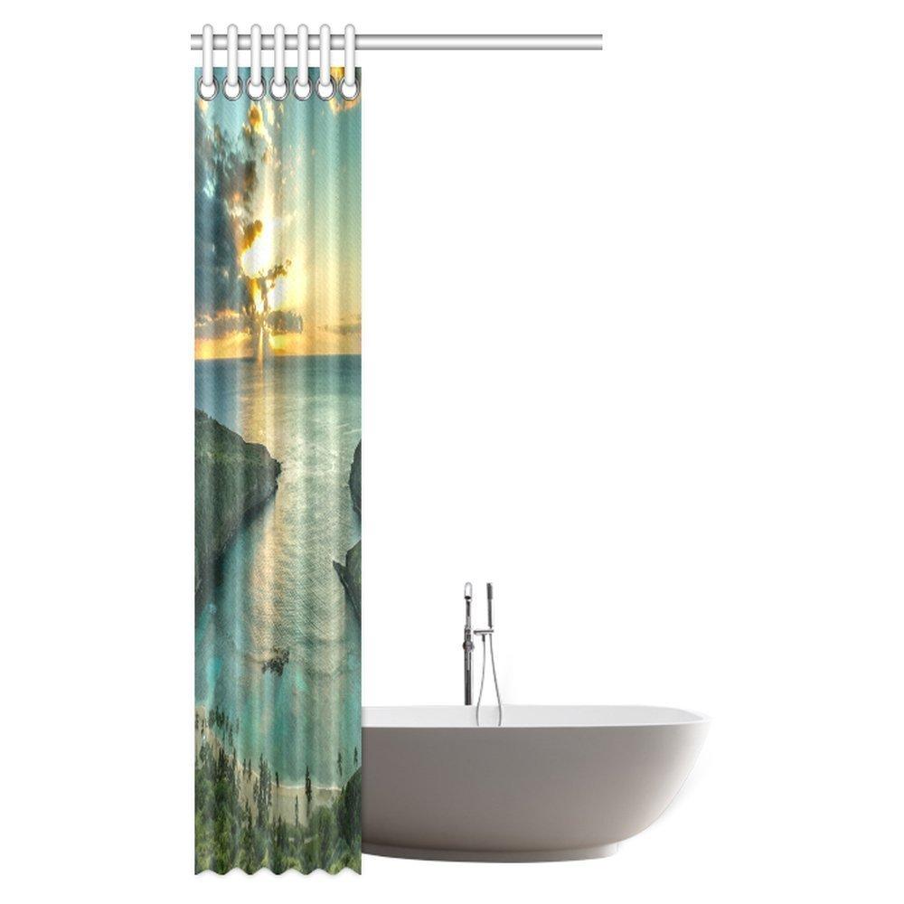Amazon.com: InterestPrint Hawaiian Beach Shower Curtain, Sunrise ...