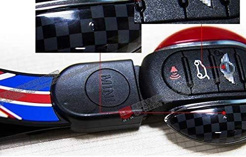 Lvbao Fob chiave telecomando di ricambio di chiave portachiavi in metallo ABS per mini One Cooper S JCW F54/F55/F56/F57/F60/Clubman Countryman Union Jack Red